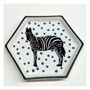 Opalhouse ceramic zebra trinket dish tray